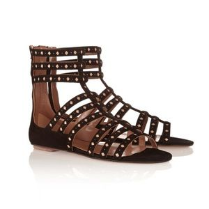 Alaia leather and suede sandals